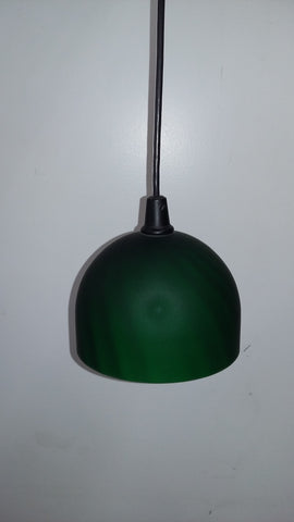 Mini Pendant Black And Green Glass Shade 3118-21-JSH LB