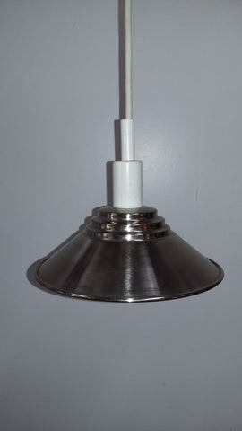 Mini Pendant Light Satin Nickel And White cord 3218-25-JSH-PL