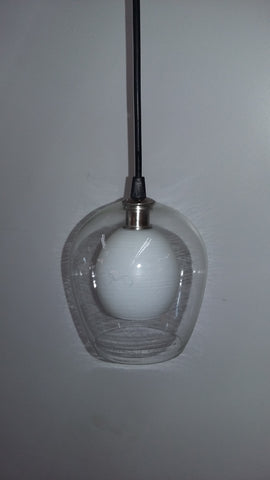 Mini Pendant Polish Steel Finish Clear And Frosted Glass 3118-20-JSH-LS