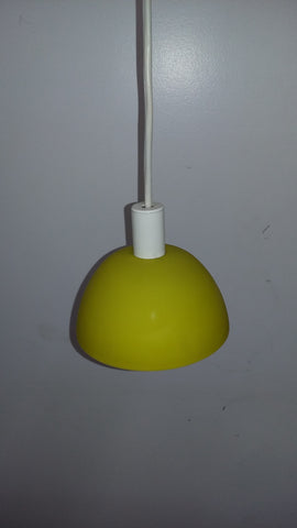 Mini Pendant Light Yellow Glass And White Cord 3218-37-JSH