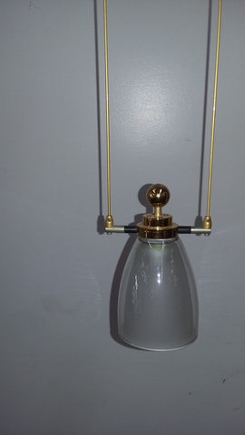 Mini PendantLight Gold Finish And Double Glass Shade 3-118-21-JSH COV