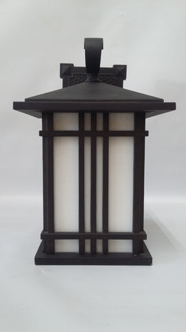 Outdoor Wall Light Black Aluminum With Opal Glass 17118-JSH-163