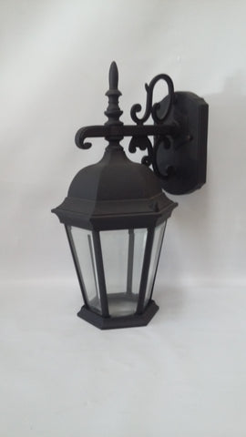 Outdoor Wall Light  Black Aluminum Clear Beveled Glass 17118-JSH-004