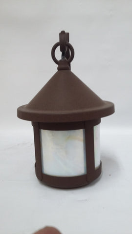 Outdoor Wall Light Solid Brass With Rust Finish And Opal Glass 17118-JSH-007