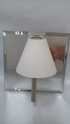 Wall Sconce Mirror And White Glass Shade 10218-20-JSH-