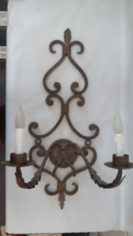Wall Sconce Iron Antique Brown Finish 10218-48-JSH-ALD