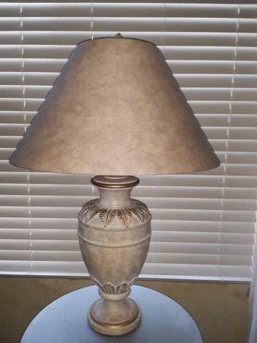 Table Lamp Cream And Gold trim  With Shade 07-118-JSH-46