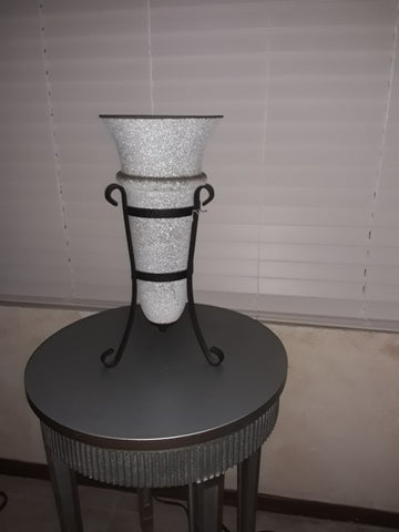 Table Lamp Black Iron And Frosted Glass 07-118-JSH-142