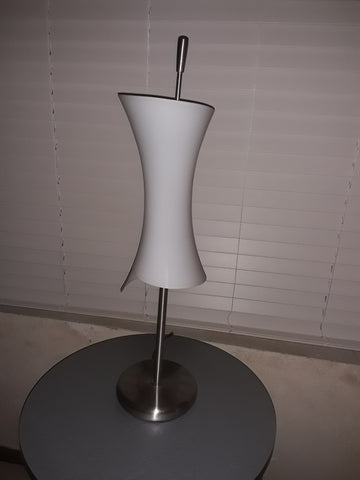 Table Lamp Satin Nickel With Frosted Glass 07-118-JSH-139