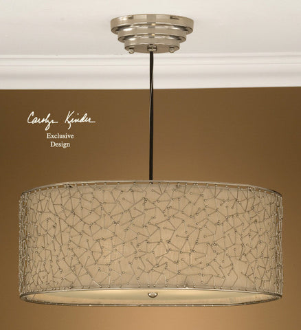 Pendant Nickel Finish And Champagne Shade #020851-61