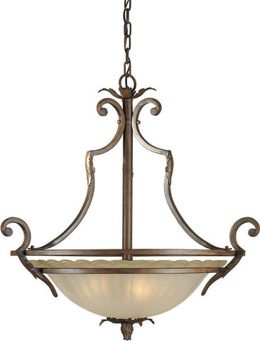 Pendant Bronze Finish And Umber Glass #020820-89