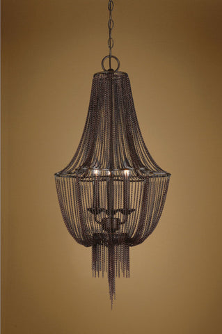 Chandelier Oil Rubbed Bronze Finish  Draped Jewelry Chain #010851-14