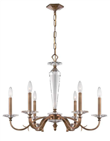 Chandelier Roman Bronze Finish And Crystal Accents #010854-14