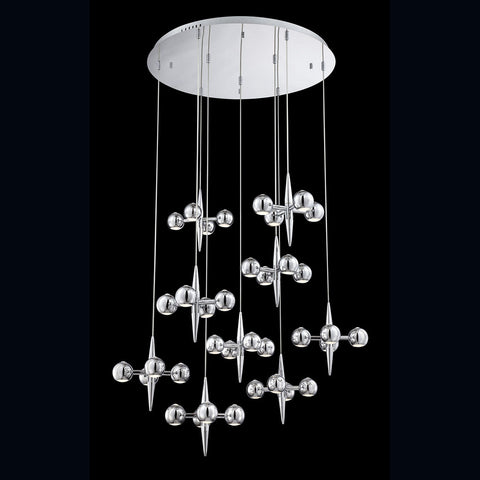 Chandelier Chrome Finish  With Led  #010815-014