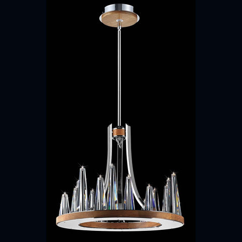 Chandelier Solid Brown Wood #010815-014