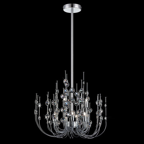 Crystal Chandelier Chrome Finish And Crystal #010815-14