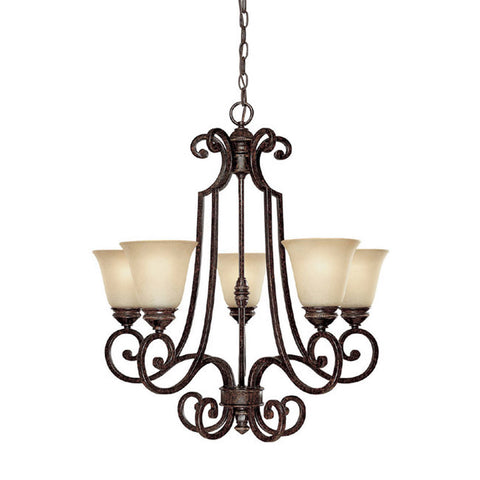 Chandelier Chester Bronze with Scavo Glass 01518-CL-JSH