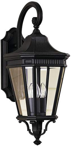 Outdoor Wall Light Black Metal And Clear Glass 17-118-JSH-127