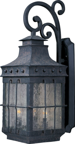 Outdoor Wall Light Black Iron and Seedy Glass 17118-JSH