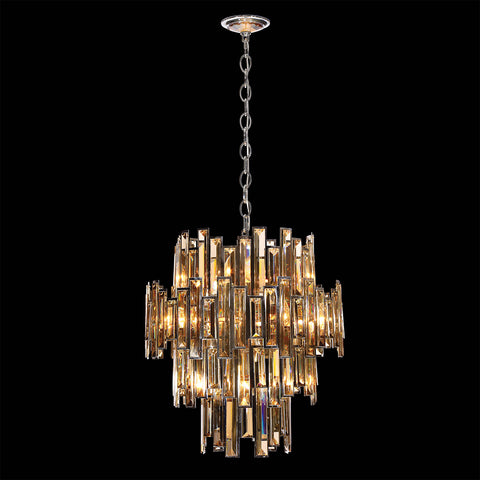 Chandelier Chrome And Champagne  Cut Crystal 01-07-518-EL-JH