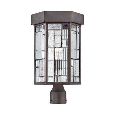 Outdoor Post Lamp   Bronze and Glass #190913-14