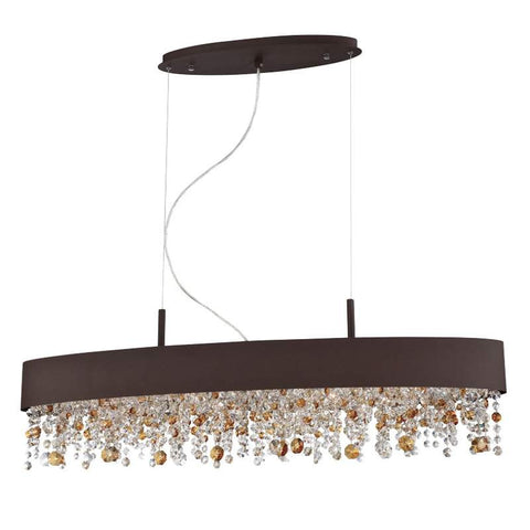 Chandelier Bronze Finish And Color Crystal 010815-16