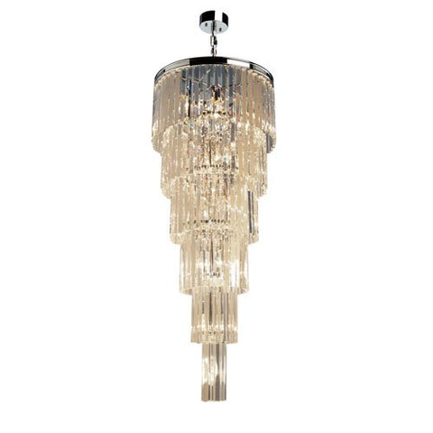 Chandelier Chrome Finish And Crystal 01-118-JSH-997