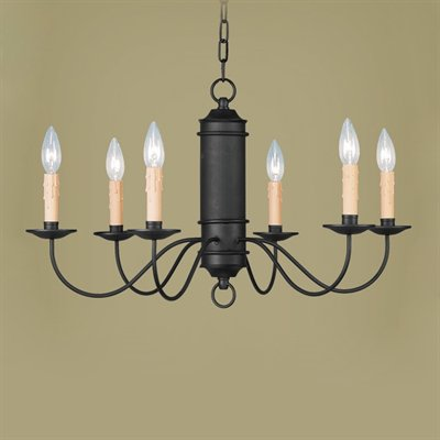 Chandelier Rust Finish Metal And Antique Candles 1-118-JSH-CTM-2