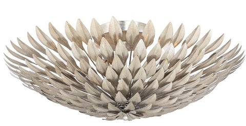 Flush Mount Antique Silver Finish With Iron Leaves #140854-59