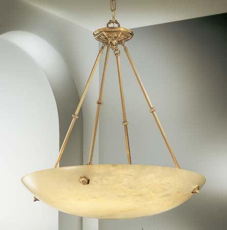 Pendant Cast Bronze Frame And Natural Alabaster Stone #020811-56