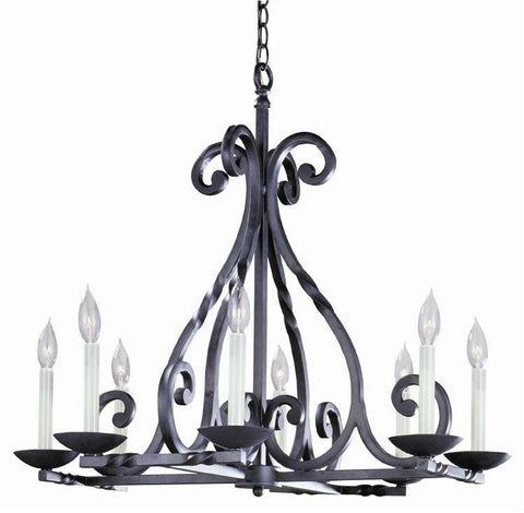 Chandelier Black Iron Finish #010855-014