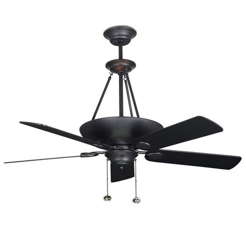 Ceiling Fans Black Finish 5 Blades 43-318-JSH-CON