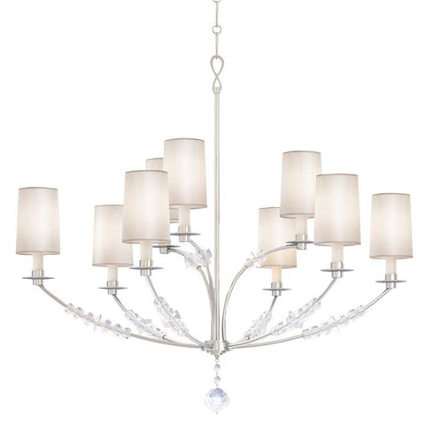 Chandelier Polished Nickel Finish And Crystal Accents #010854-14