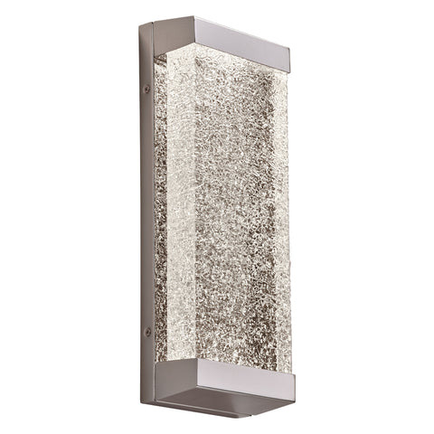 Wall Light Polished Chrome Finish And Cracked Ice Glass PLCL-84440