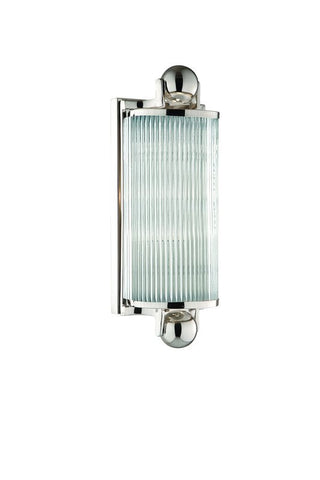 Indoor Wall Light Polished Nickel And Glass #100832-255