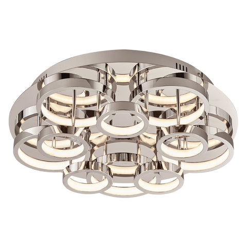 Flush Mount Polished Chrome And Opal Acrylic 14318-JSH-PL-88