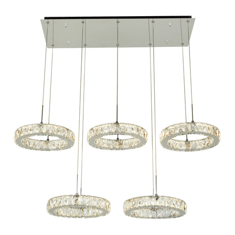 Chandelier Chrome Finish And Diamond Cut Crystal 01-118-JSH-E6
