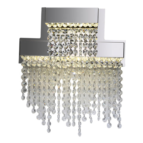 Wall Sconse Polished Chrome and Clear Crystal 10518-PLC-JSH