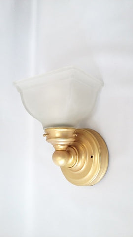 Wall Sconse Satin Gold And Frosted Glass 10-118-JSH-A12