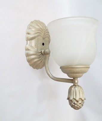 Wall Sconse Cream FinishAlabaster Glass  10-118-JSH*A18