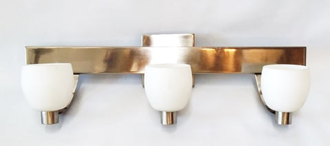 Vanity Light Polished Nickel And Frosted Glass 09-118-JSH-A44
