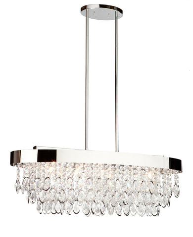 Chandelier Chrome  and Crystal   Oval  #01807-10 FP