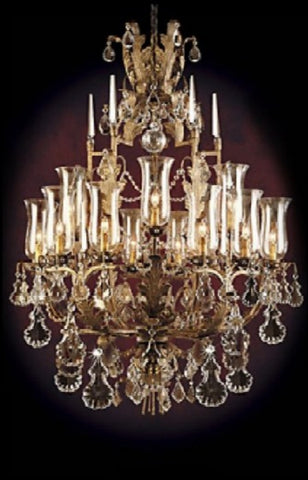 Chandelier Iron  with Crystals #010855-014