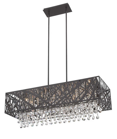 Chandelier Bronze Metal With Hand Cut Crystal 01-118-JSH-33-1000