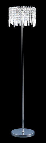 Floor Lamp Chrome Finish And Crystal Shade #070833-014