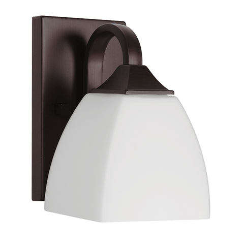 Wall Sconce Bronze Finish And White Glass 10-118-JSH-A120