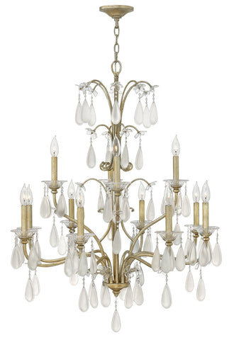 Chandelier  Silver Leaf Finish #0140819-267