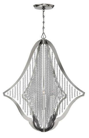 Chandelier Polished Nickel and Crystal  #010819-259