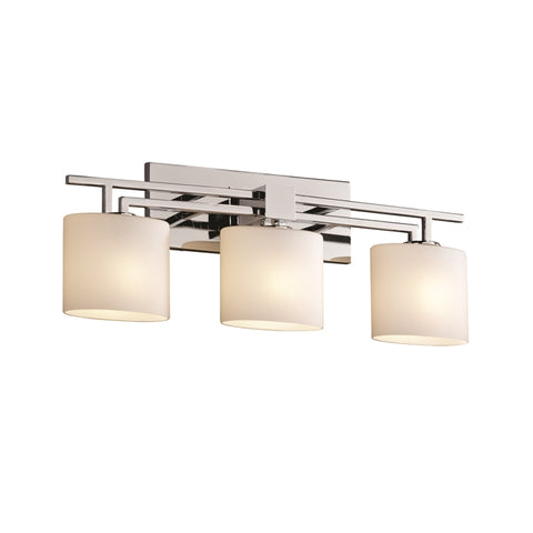 Vanity Light Chrome Finish And Opal Glass Shade 9-118-JSH-28-125