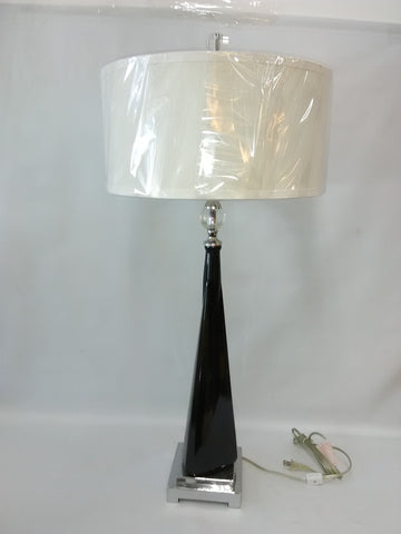 Table lamp Dark Brown Glass And Polished Nickel Finish 721836-JSH-Utte